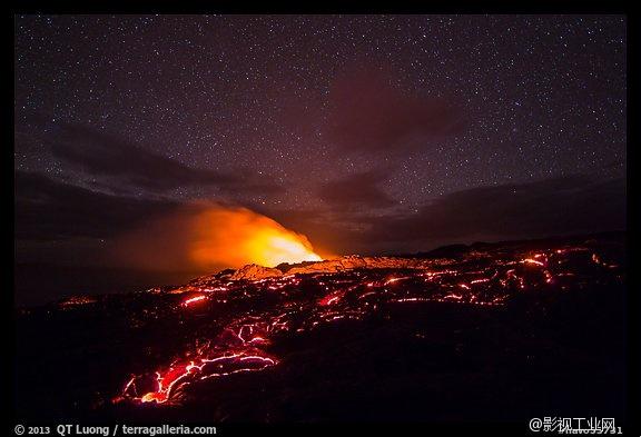 夏威夷火山延时摄影:为您展现壮丽而恐怖的滚烫熔岩!