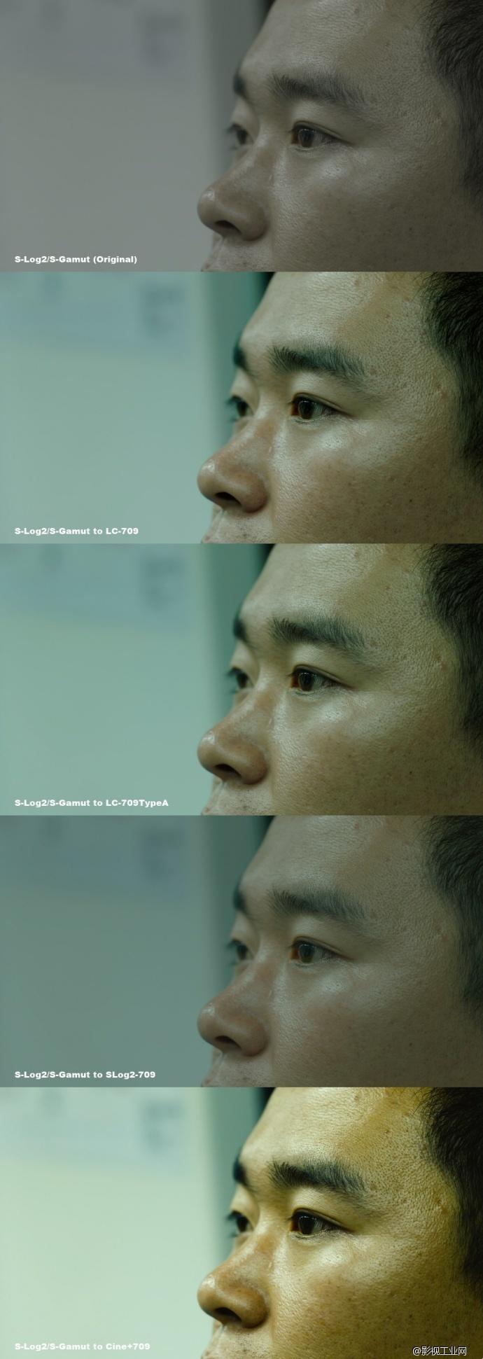 原始拍摄素材截图与应用索尼官方LUT后画面对比