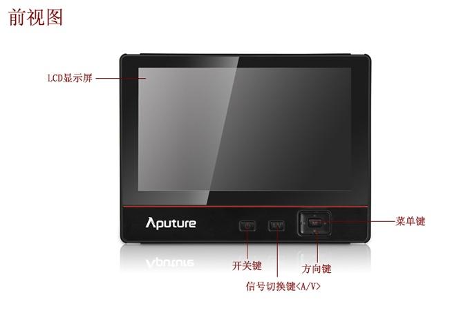 在菜单设置hdmi信号切换到视频,然后将音频接入监视器的左右声道,即可