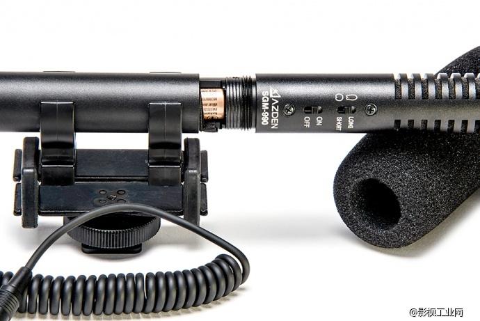 日本azden阿兹丹sgm-990单反相机录音立体声话筒