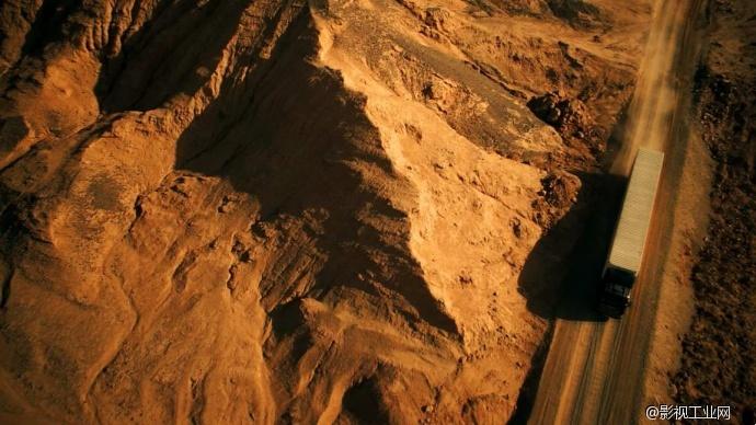 苍凉西北上空拍摄 长城尊龙润滑油 tvc广告高清图片