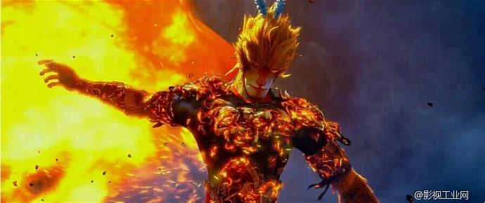 动画森林背景 火
