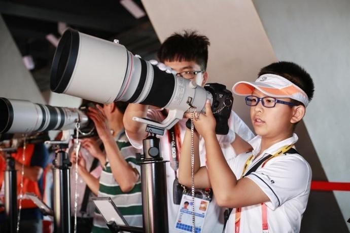 佳能影像之桥:孩子镜头下的世锦赛