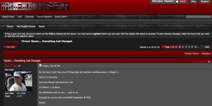 "RAVEN丨 未发货,先升级:RED升级""乌鸦""传感器为4.5K,价格不变"