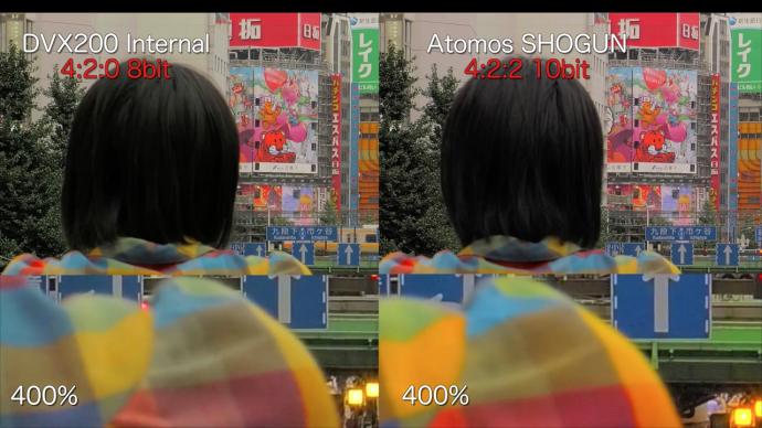 5合1——DVX200清晰度,帧速率,色彩配置文件,4K V-Log L,ISO测试