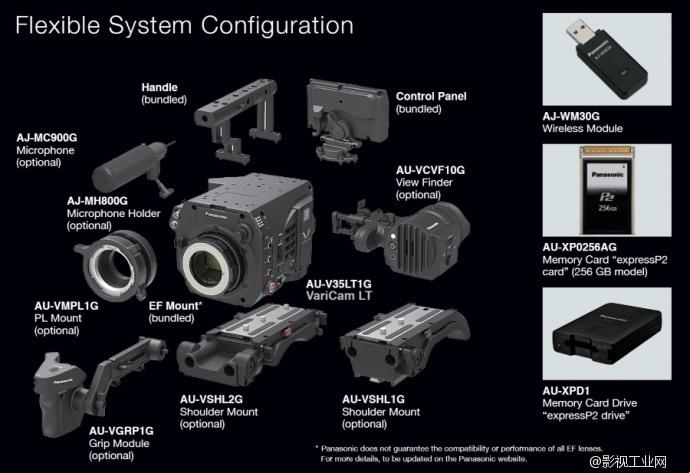Panasonic VariCam LT 附件列表