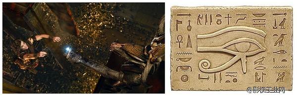 我们经常见到的古埃及壁画中的蛇 迪密尔的传承.风格化的纯金影像图片