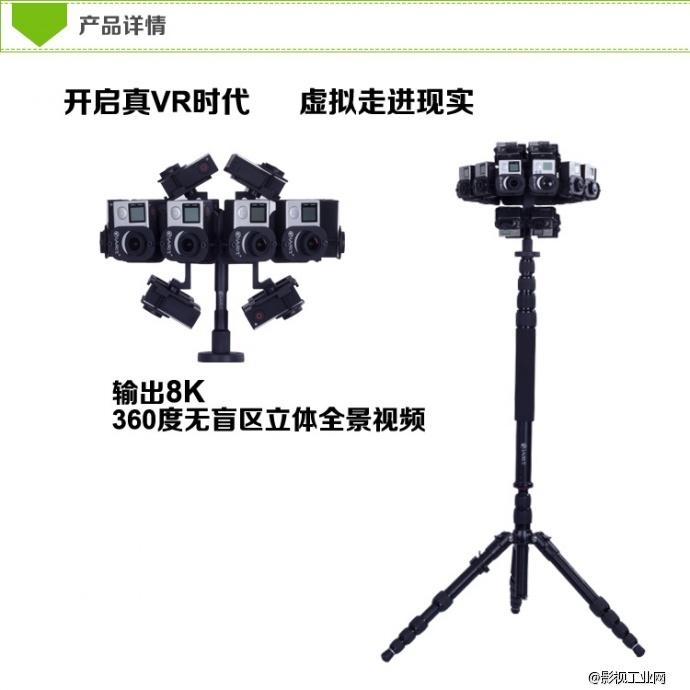 框架结构为一圈六边形,拥有12个相机.顶部底部各两面,4个相机. 3.