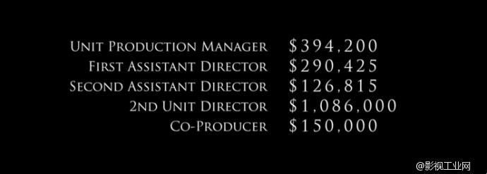一个2亿美元预算的大片,工作人员从中各能拿多少钱?