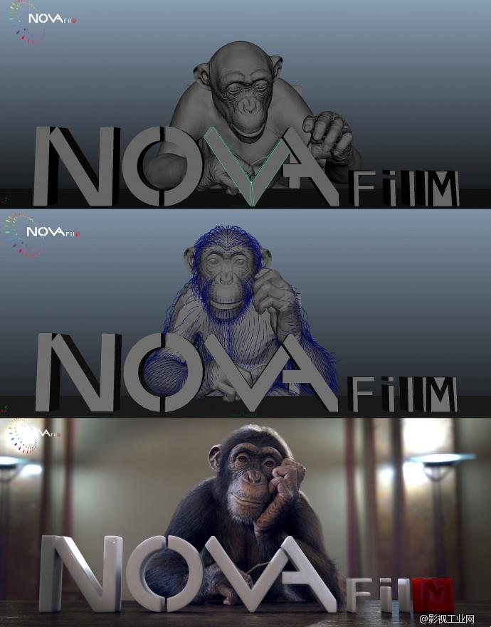 Nono模型、毛发制作过程