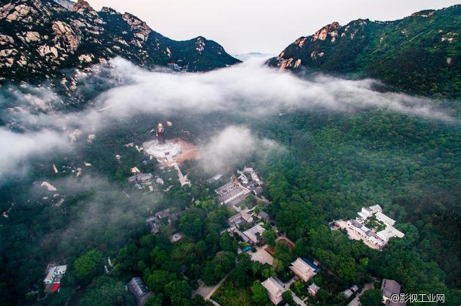航拍崂山风景区