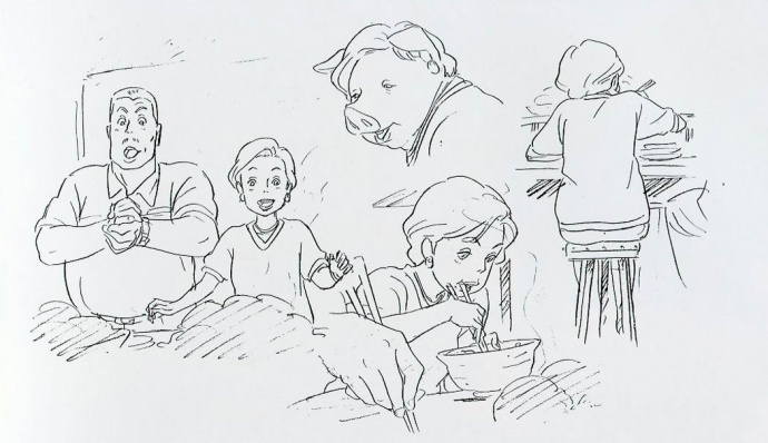 《千与千寻》分镜头与设计图