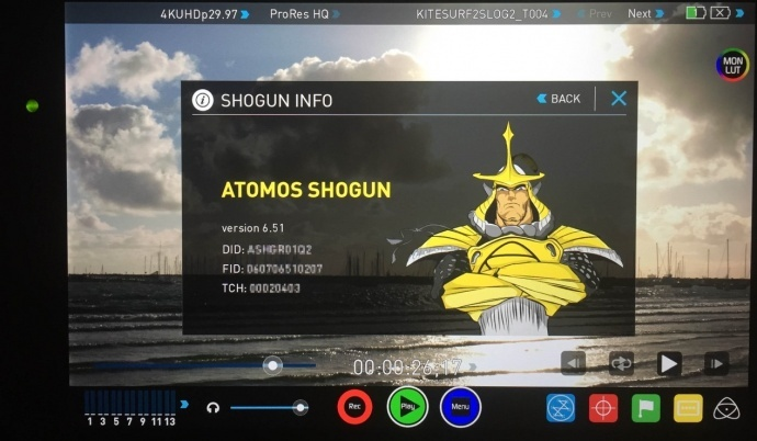 期待的升级来了!Atomos发布Shogun和Ninja Assassin6.6固件,新增AtomHDR功能