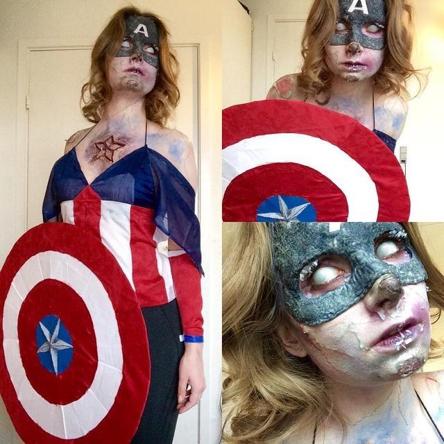 女特效化妆师脑洞大开 超酷鬼魅妆容挑战你的心脏