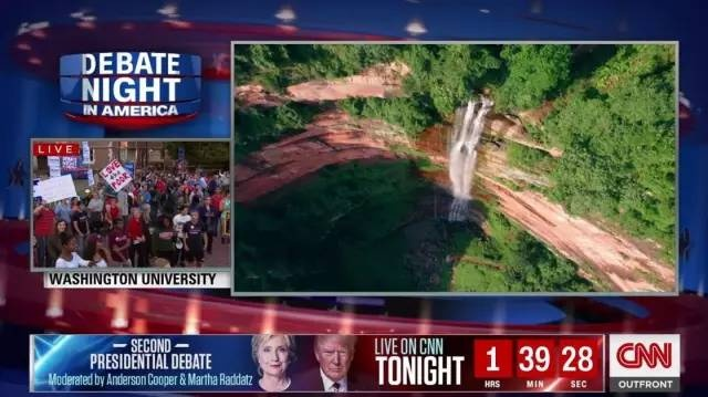 美国大选直播惊现斯凯威航拍画面, 全美国人民都看到我们航拍了