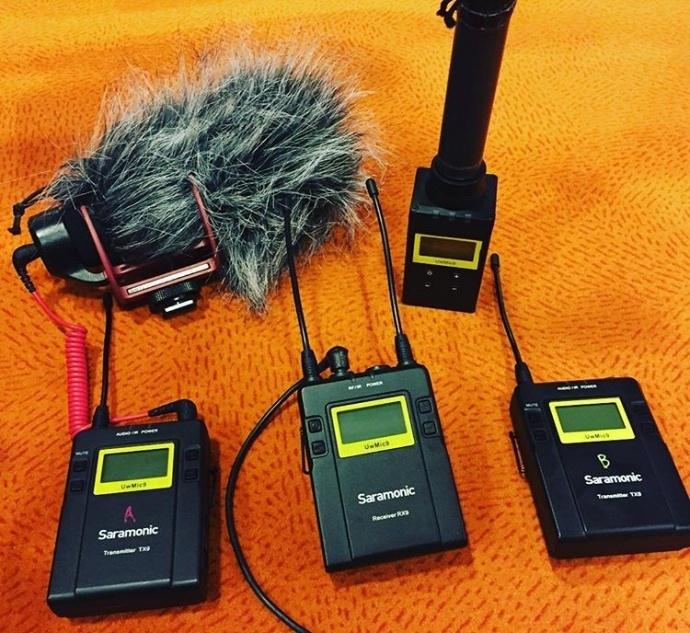 枫笛Saramonic微电影无线话筒小蜜蜂一对多音频解决方案