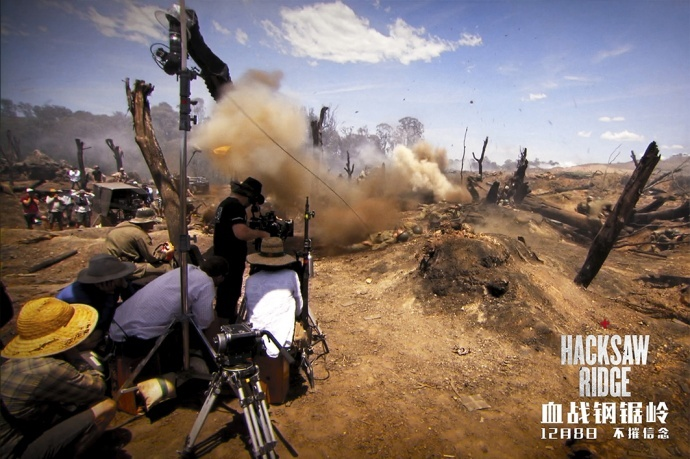 《血战钢锯岭》曝光地狱对决片段,展示恐怖战争场景如何拍出来