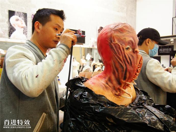 肖进特效化妆培训 第11届特效化妆造型全科班毕业作品展完美收官