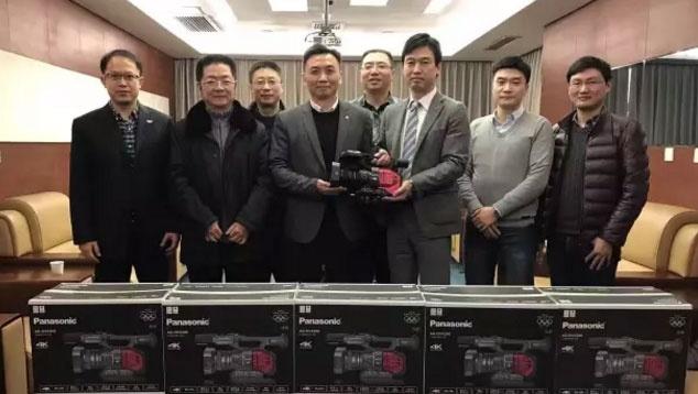 松下和重庆电视台举办4K摄像机交货仪式