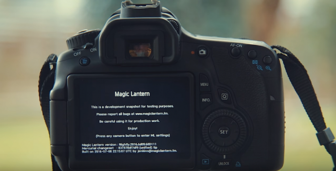 【摄影DIY】不要以为自己的单反要淘汰了,Magic lantern让他起死回生,甚至能还实现Raw视频!