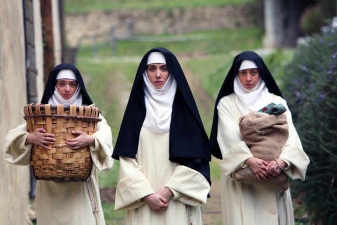 The Little Hours 演员Alison Brie, Kate Micucci and Aubrey Plaza. 图片提供:圣丹斯电影节组委会