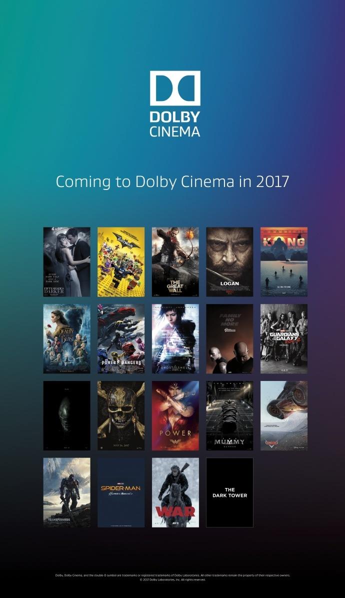 杜比影院公布春季新片强大阵容