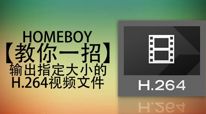 教你一招 | 输出指定大小的H.264视频文件