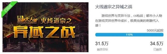 影大人助力网络大电影《异域之战》众筹成功!