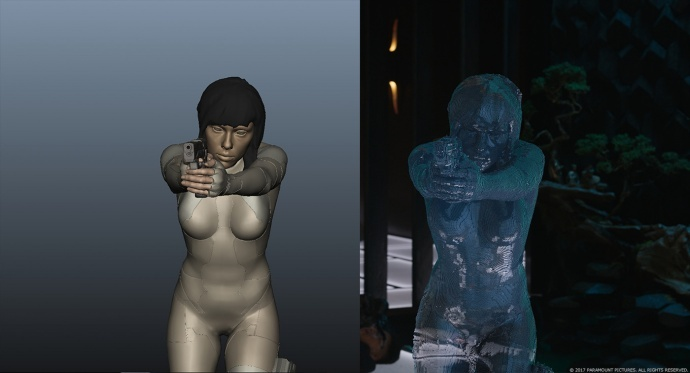 《攻壳机动队》特效真的很好啊,用到了各种黑科技