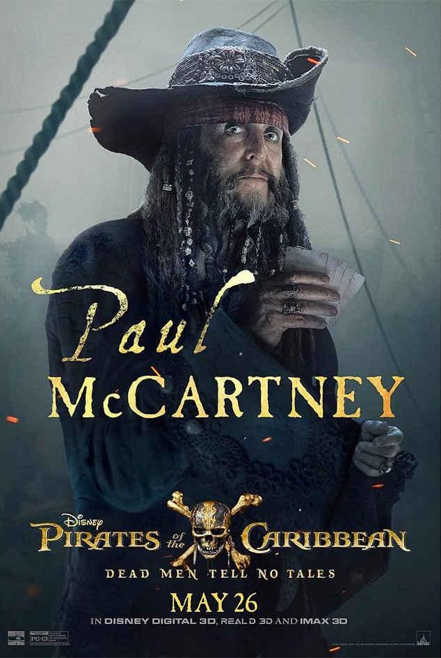 74岁的麦卡特尼披着全身海盗行头,确认出演杰克船长的叔叔