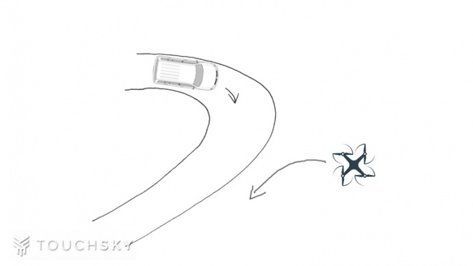 会飞的汽车简笔画