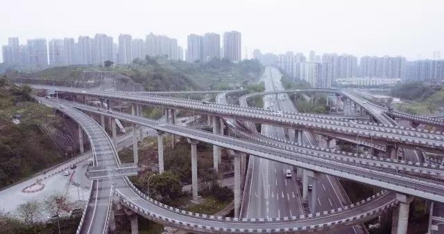 重庆盘龙立交桥 此次拍摄景点之一