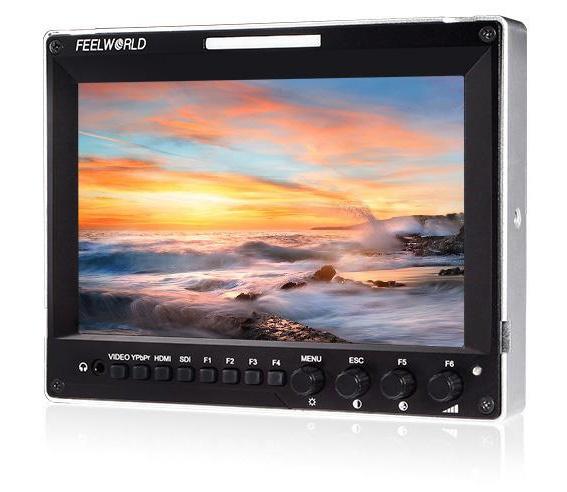 富威德A7 7寸铝壳设计IPS屏带3G-SDI/HDMI输入输出接口 带波形图、矢量图、直方图摄影摄像导演监视器 前后均设置有3色TALLY灯