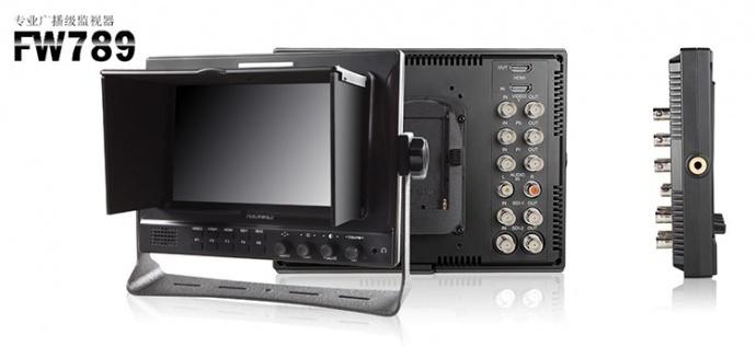 富威德7寸 IPS屏 双路3G-SDI输入输出 多路视频无缝切换全功能专业波形图、矢量图、直方图广播级摄影导演专业高清监视器 FW789