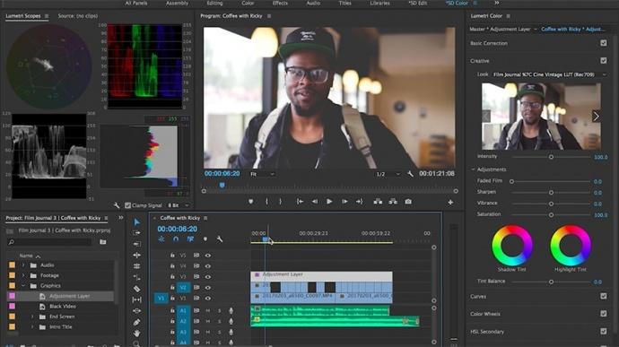 Premiere Pro CC中的LUT调色工作流程