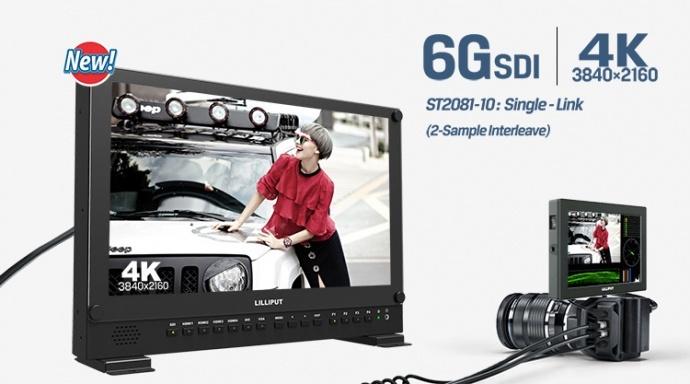 LILLIPUT 利利普 6G-SDI SDI HDMI 4K 23.8寸箱载导演监视器