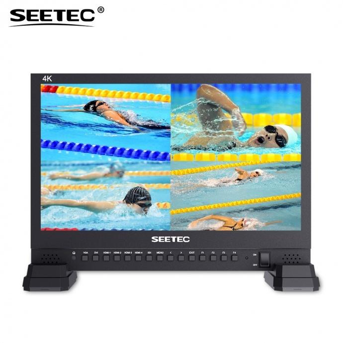 视瑞特SEETEC 15.6寸4K广播级监视器UHD 3840X2160 四路HDMI输入 3G-SDI输入环出 四画面分割显示 4K156-9HSD