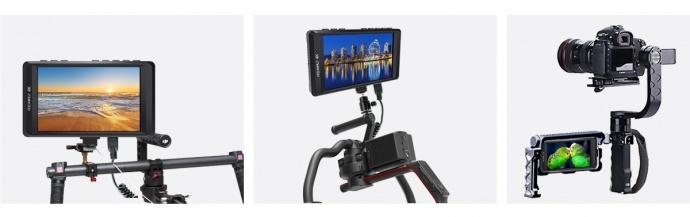 富威德F450 4.5寸4K摄影导演监视器 带HDMI输入输出 铝壳设计 应用于稳定器上的监视器 专为手持稳定器拍摄监看设计