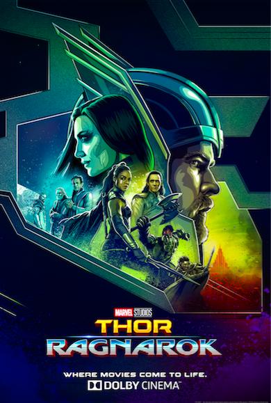 《雷神3:诸神黄昏》发布杜比影院版全球独家海报 集结众神势不可挡