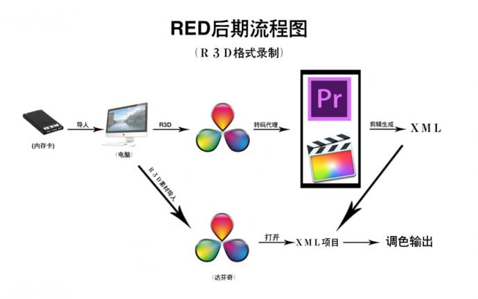 一张图快速了解RED后期操作步骤