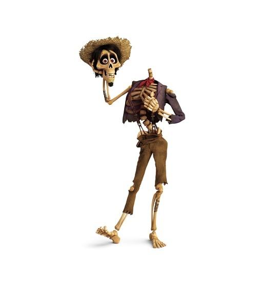 127块骨头组成一个骷髅人,看艺术家笔下的《寻梦环游记》概念设计