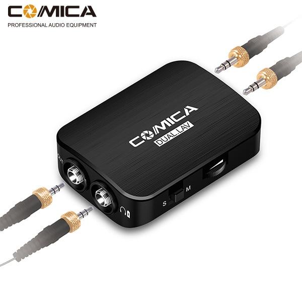 COMICA手机 相机GOPRO通用多功能立体声/单声道切换领夹式麦克风 1. 双咪头双音源拾音; 2. 机身咪头可分离便于收纳; 3. 内置锂电池、超薄机身、可使用充电宝及外接电源充电; 4. 单声道/立体声 模式切换; 5. 实时监听; 6. 超强待机时间可达100h以上; 7. 金属面板加工,优越屏蔽性能;