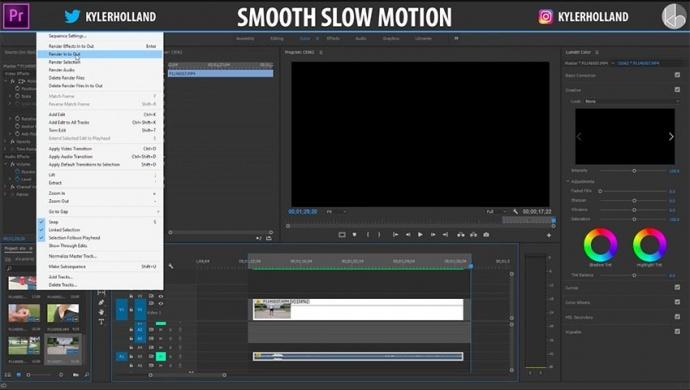 一个简单的小技巧让你在Premiere Pro CC中获得完美平滑的慢动作