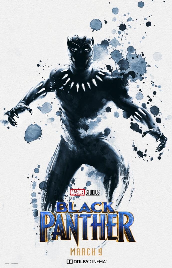 《黑豹》杜比影院版独家海报曝光 墨迹斑驳下的黑豹将要经历怎样的黑暗传奇?