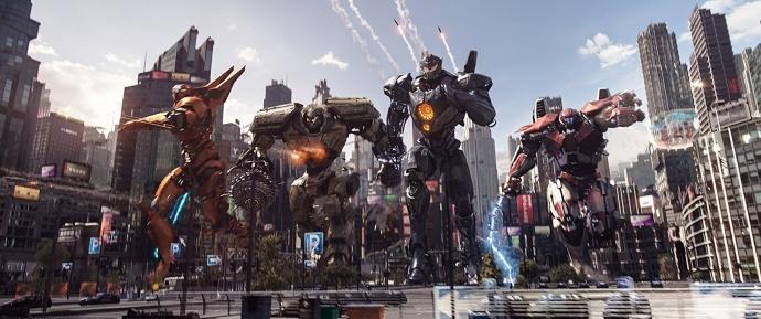 《环太平洋2》定档3月23日,机甲怪兽火力全开硬碰硬