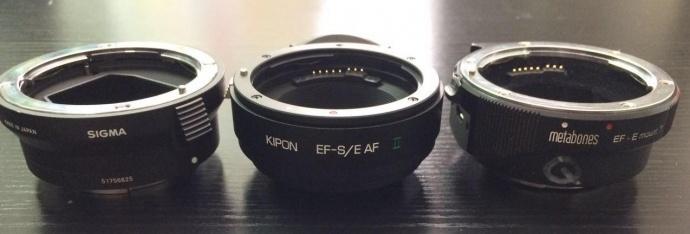 E-EF镜头转接环测试