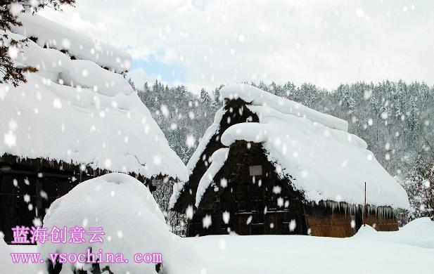 蓝海创意云用雪粒子系统做下雪效果